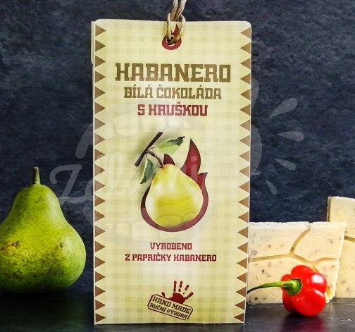 Habanero bílá čokoláda s hruškou 45g