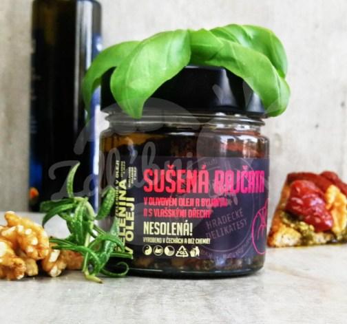 Sušená rajčata v olivovém oleji s vlašskými ořechy 160g