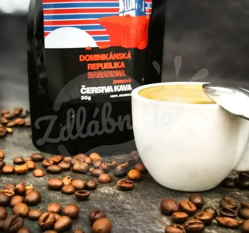 Čerstvá káva Dominikánská republika Barahona, zrnková, 50 g