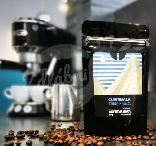 Čerstvá káva Guatemala Tres Maria, zrnková, 50 g