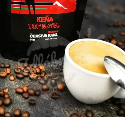 Čerstvá káva Keňa Top Masai, zrnková, 50 g