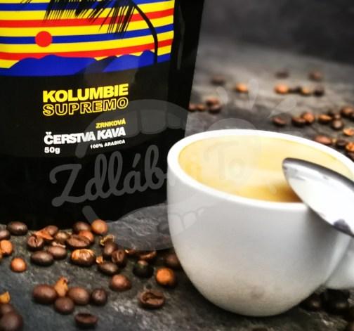 Čerstvá káva Kolumbie Supremo, zrnková, 50 g