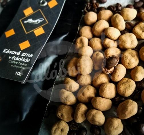 Kávová zrna v čokoládě 63% 50g - Jordi's