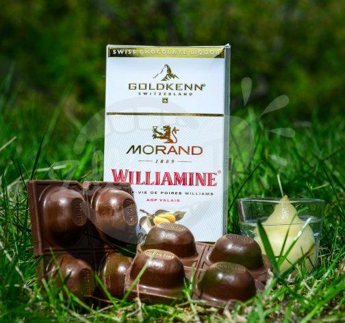 Luxusní čokoláda Goldkenn s náplní Morand Williamine Liqueur 100g