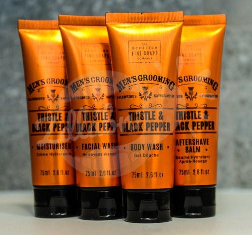 Gentlemanský kosmetický kufřík kožený CLASSIC - Scottish Fine Soaps