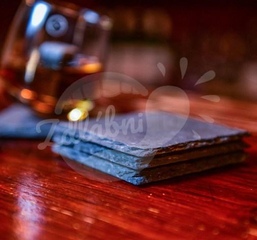 Břidlicové podložky pod skleničku