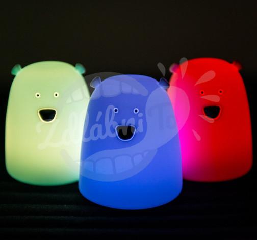 Malá lampička Rabbit&Friends medvídek – modrá