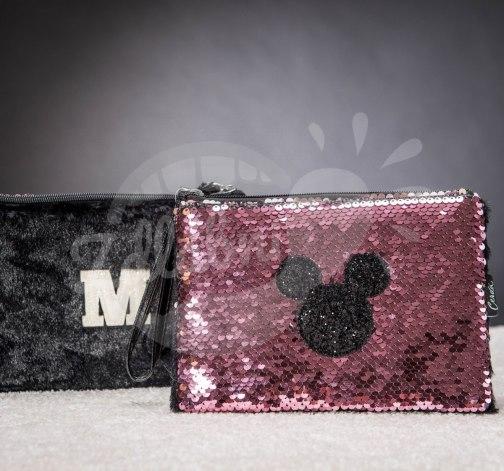 Multifunkční flitrová taštička Minnie Mouse
