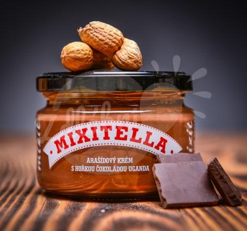 Mixit Mixitella arasidovy krem s horkou cokoladou s Ugandy 250 g.jpg