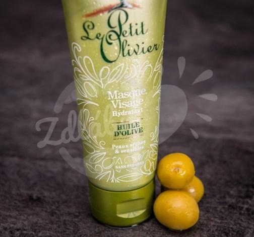 Le Petit Olivier - hydratační pleťová maska - olivový olej a růžová voda 75ml - zelená
