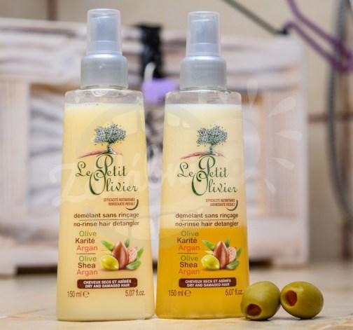 Le Petit Olivier - bezoplachový kondicionér ve spreji - olivový olej, bambucké máslo, arganový olej 150ml