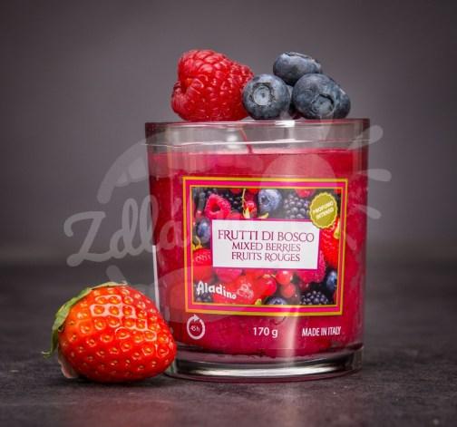 Scented Candle MIXED BERRIES – svíčka ve skle 170 g – červená