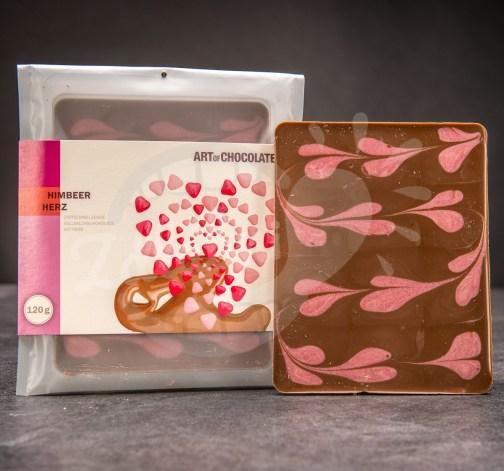 Art of Chocolate Čokoládová tabule Himbeer Herz 120g