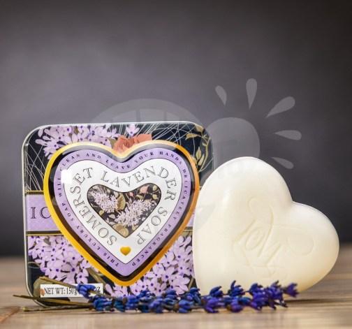 Luxusní mýdlo v plechové krabičce s vůní levandule 150 g