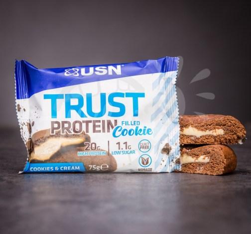 USN Trust Protein Filled Cookie – Cookies & Cream 75 g