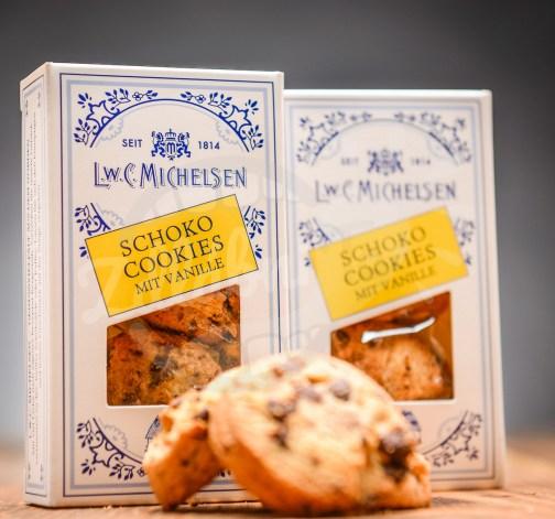 Cokoladove cookies s vanilkou Michelsen Schoko Cookies mit Vanille.jpg
