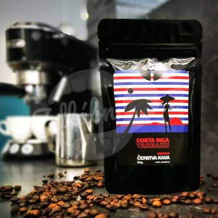 Čerstvá Káva Costa Rica Tarrazu zrnková 50 g