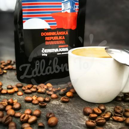 Čerstvá káva Dominikánská republika Barahona, zrnková