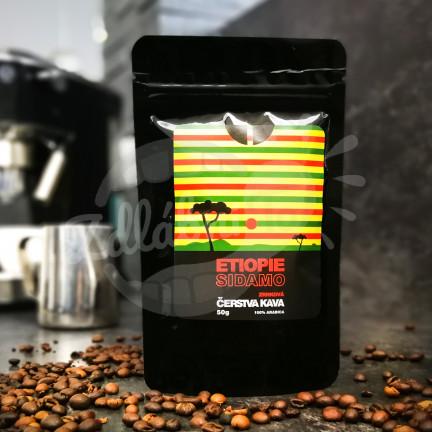 Čerstvá káva Etiopie Sidamo, zrnková