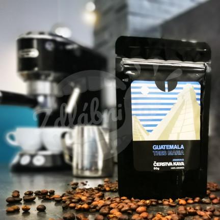 Čerstvá káva Guatemala Tres Maria, zrnková