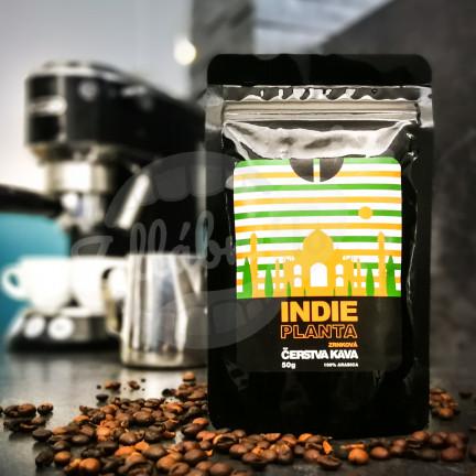 Čerstvá káva Indie Planta, zrnková