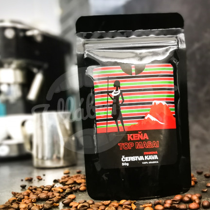 Čerstvá káva Keňa Top Masai, zrnková