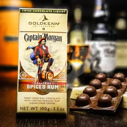 Luxusní čokoláda Goldkenn s náplní Captain Morgan