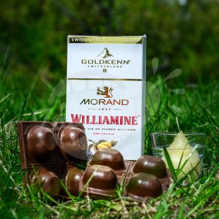 Luxusní čokoláda Goldkenn s náplní Morand Williamine Liqueur