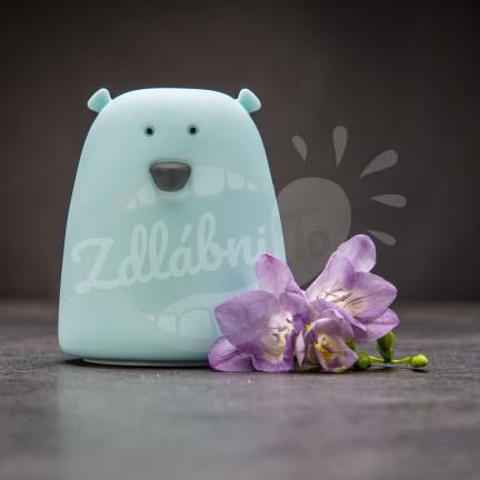 Dotyková lampička ve tvaru medvídka – modrá