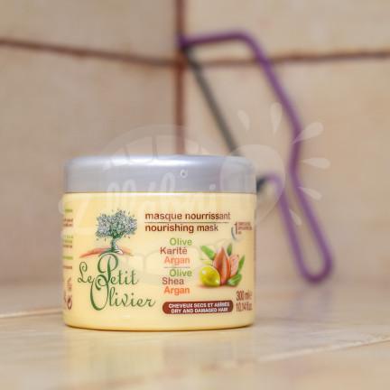 Le Petit Olivier - vyživující maska na vlasy - olivový olej, bambucké máslo, arganový olej 300ml