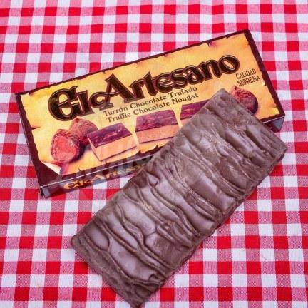 Čokoládový turón s náplní čokoládových lanýžů 200g