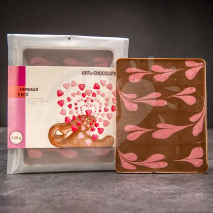 Čokoládová tabule Art of Chocolate s malinami 120 g