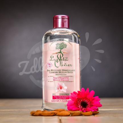 Čistící micelární voda Le Petit Olivier s vůní mandlového květu 400 ml