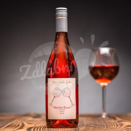 Merlot Rosé 2019, Pozdní sběr, Gotberg 0,75l