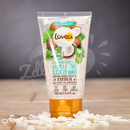 BIO tělový peeling Lovea s kokosovým olejem 150 ml