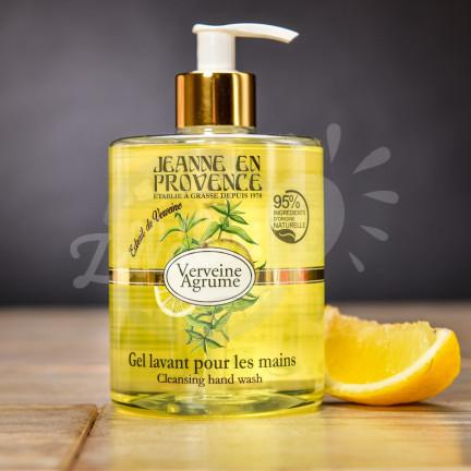 Svěží mycí gel na ruce Jeanne en Provence s vůní verbeny a citronu 500 ml